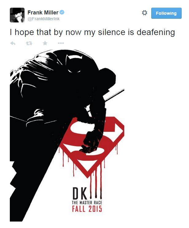 Frank Miller to pen Dark Knight III: The MasterRace