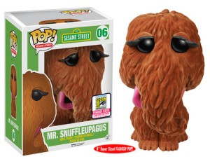 "Sesame Street: 6"" Flocked Mr. Snuffleupagus"